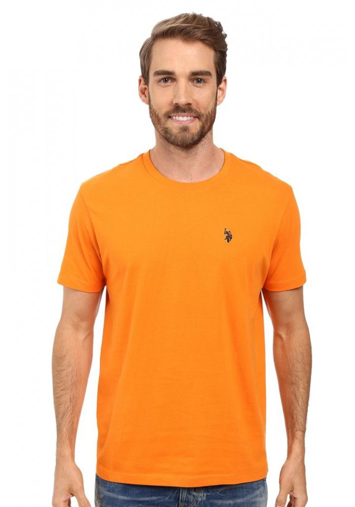 Tricou clasic U.S. Polo ASSN. Orange