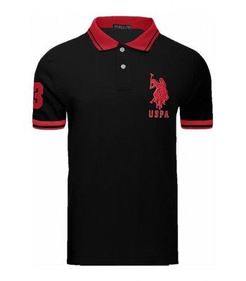 Tricou U.S. Polo ASSN., Black/Red