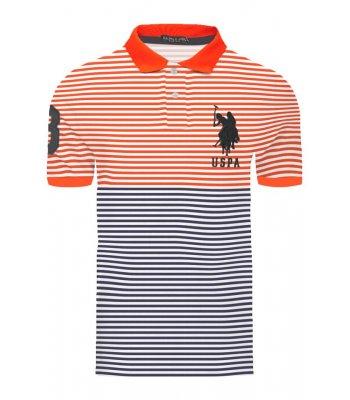 Tricou U.S. POLO ASSN. cu dungi, multicolor