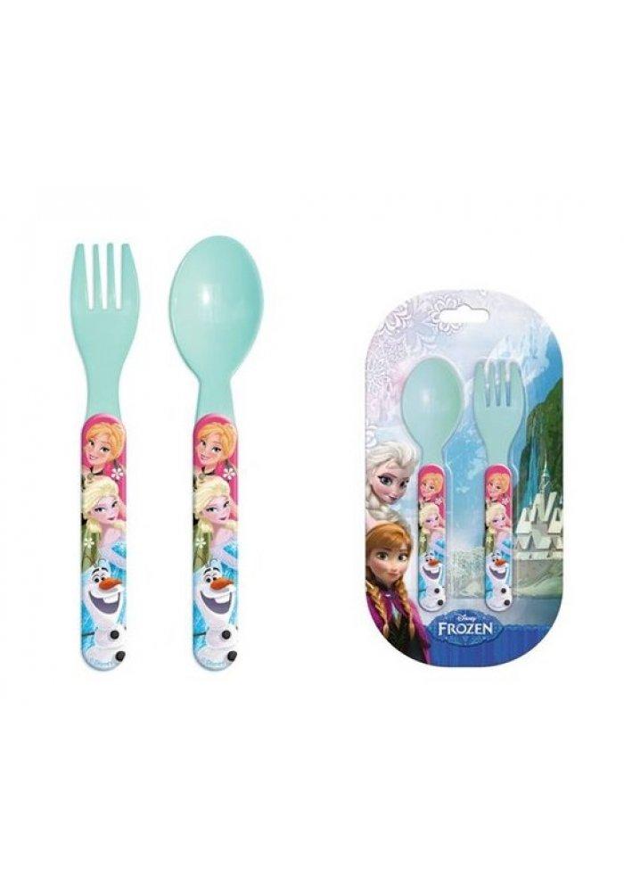 Set lingurita si furculita plastic Frozen