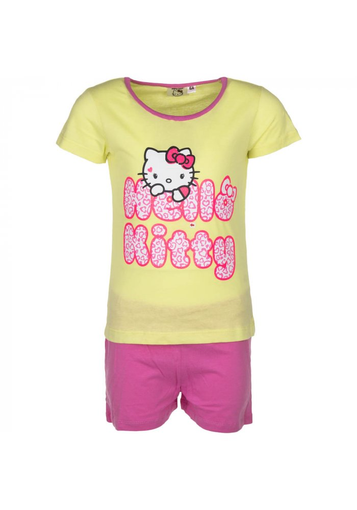 Pijama Hello Kitty Love Yellow
