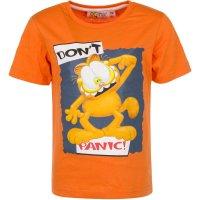 Tricou Garfield Don't Panic Portocaliu