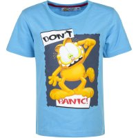 Tricou Garfield Don't Panic Blue