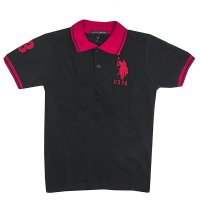 Tricou copii US Polo Black/ Red