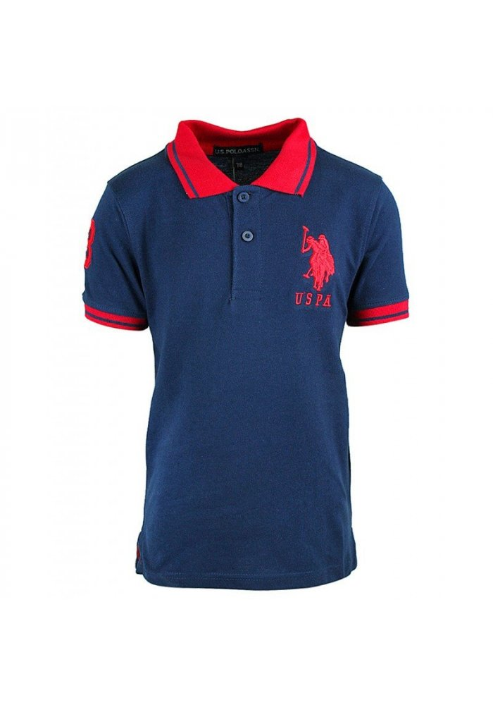 Tricou copii US Polo Navy / Red