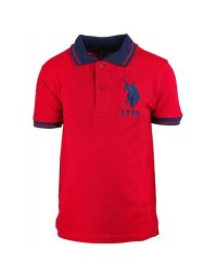 Tricou copii US Polo Red / Navy