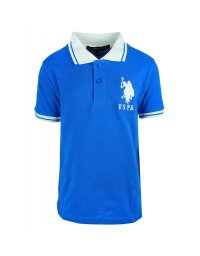 Tricou copii US Polo Royal / White