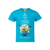 Tricou Minions Keep Calm Bleu